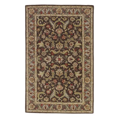 Trinningham Wool Brown/Tan Area Rug Rug Size: 96 x 136