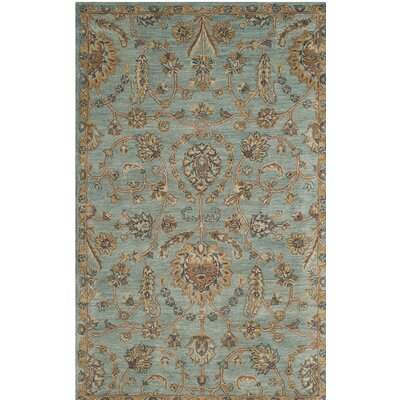 Cranmore Hand-Tufted Blue/Beige Area Rug Rug Size: Rectangle 3 x 5