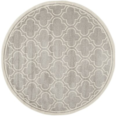 Carman Gray/Beige Indoor/Outdoor Area Rug Rug Size: Square 7 x 7