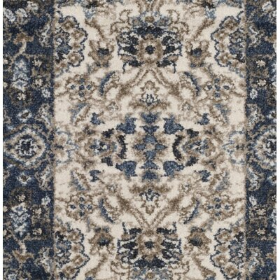 Arthur Beige/Blue Area Rug Rug Size: Rectangle 51 x 76