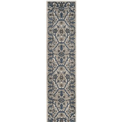 Arthur Beige/Blue Area Rug Rug Size: Rectangle 9 x 12