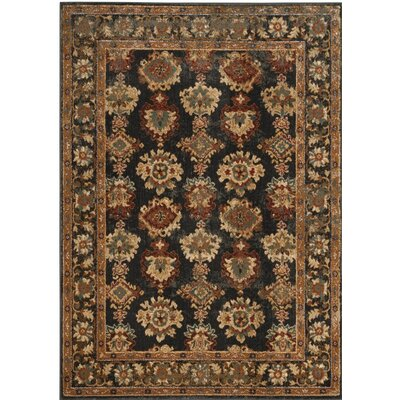 LoweBrown/Black Area Rug Rug Size: Rectangle 67 x 92
