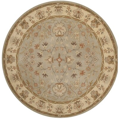 Otwell Hand-Tufted Gray/Beige Area Rug Rug Size: Round 6