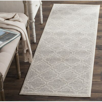 Carman Gray/Beige Indoor/Outdoor Area Rug Rug Size: Runner 23 x 7