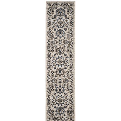Arthur Beige/Blue Area Rug Rug Size: Rectangle 8 x 10