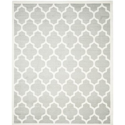 Carman Gray/Beige Indoor/Outdoor Area Rug Rug Size: 8 x 10