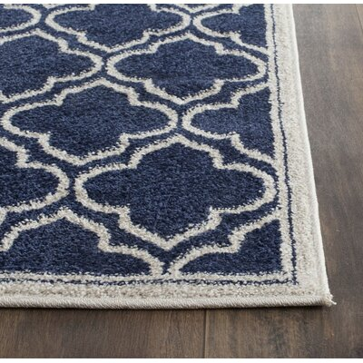 Carman Blue/Beige Indoor/Outdoor Area Rug Rug Size: Rectangle 26 x 4