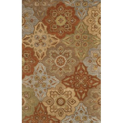 Cranmore Hand-Tufted Beige/Orange Area Rug Rug Size: Runner 23 x 8