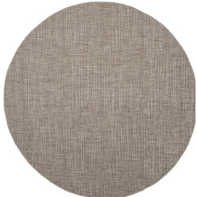 Poole Brown/Beige Indoor/Outdoor Area Rug Rug Size: Round 67
