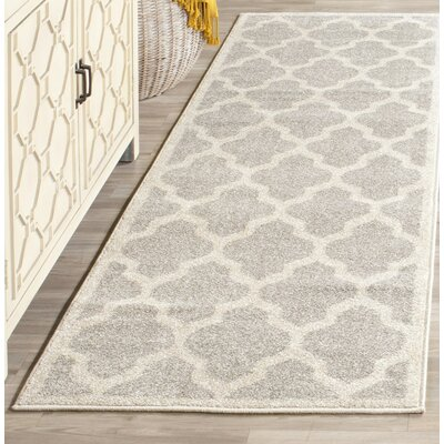 Carman Gray/Beige Indoor/Outdoor Area Rug Rug Size: 10 x 14