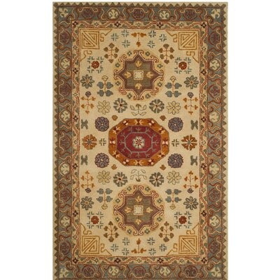 Cranmore Hand-Tufted Beige/Brown Area Rug Rug Size: Square 6