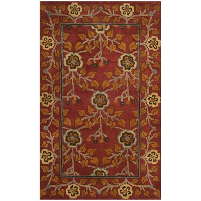Cranmore Hand-Tufted Red/Orange Area Rug Rug Size: 5 x 8