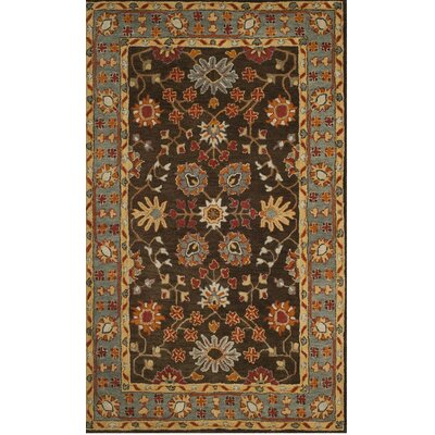 Cranmore Hand-Tufted Brown/Beige Area Rug Rug Size: Square 6