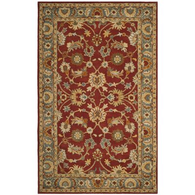 Cranmore Hand-Tufted Red/Blue Area Rug Rug Size: Rectangle 4 x 6