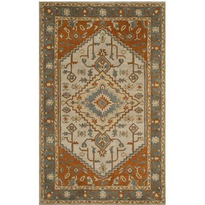 Cranmore Hand-Tufted Gray/Beige Area Rug Rug Size: Rectangle 6 x 9