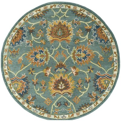 Cranmore Hand-Tufted Light Blue/Yellow Area Rug Rug Size: Rectangle 5 x 8