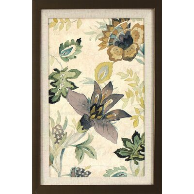 Floral Brocade Framed Print of Painting