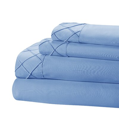 Riverview 4 Piece Sheet Set Size: King, Color: Blue