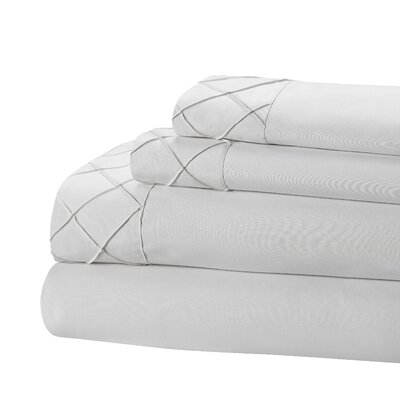 Riverview 4 Piece Sheet Set Size: Twin, Color: Gray