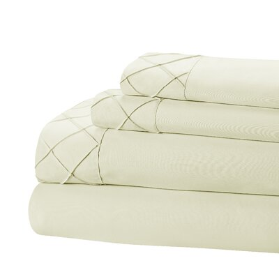 Riverview 4 Piece Sheet Set Size: California King, Color: Ivory