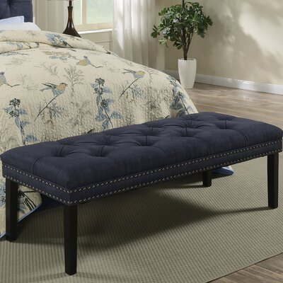 Roxie Upholstered Bedroom Bench Color: Denim