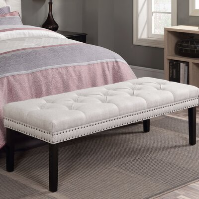 Roxie Upholstered Bedroom Bench Color: Linen