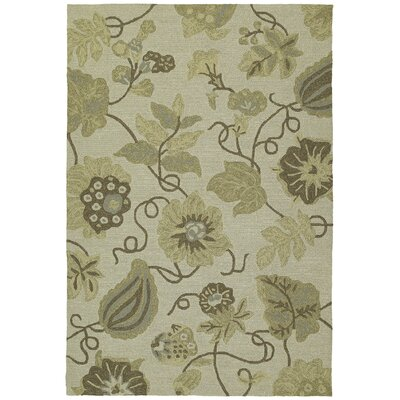 Glenn Garden Harbour Linen Floral Indoor/Outdoor Area Rug Rug Size: Rectangle 4 x 6