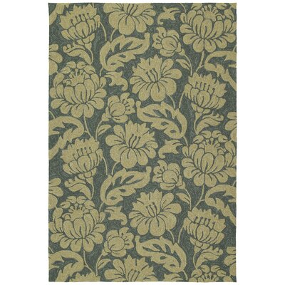 Glenn Azure Floral Indoor/Outdoor Area Rug Rug Size: Rectangle 9 x 12