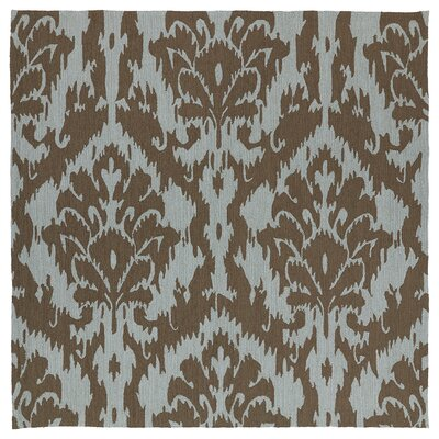 Glenn Hand-Tufted Mocha Indoor/Outdoor Area Rug Rug Size: Square 79