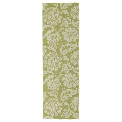Glenn Wasabi Floral Indoor/Outdoor Area Rug Rug Size: Runner 26 x 8