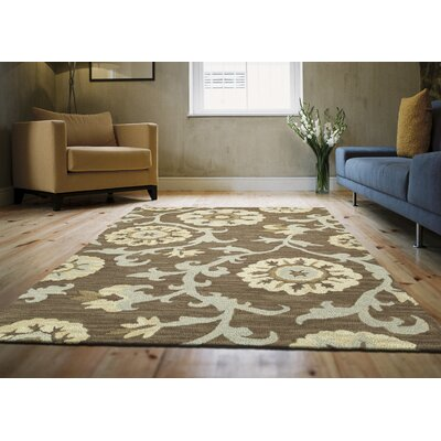 Brent Graphite Indoor Rug Rug Size: Rectangle 3' x 5'