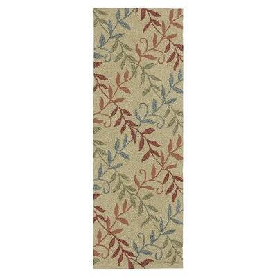 Manning Factors Walk Butterscotch Indoor/Outdoor Area Rug Rug Size: Runner 2 x 6