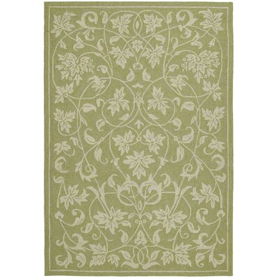 Manning Celery Floral Outdoor/Indoor Area Rug Rug Size: Rectangle 76 x 9