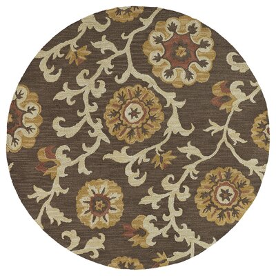 Brent Brown Area Rug Rug Size: Round 79