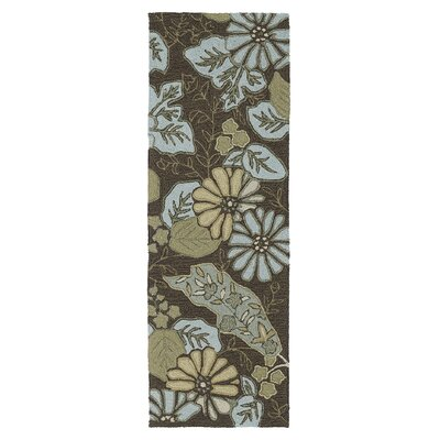 Manning Morning Glory Robins Egg Indoor/Outdoor Area Rug Rug Size: Runner 2 x 6