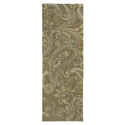 Manning Rivers End Mocha Indoor/Outdoor Area Rug Rug Size: Runner 2 x 6