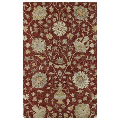 Casper Red Aphrodite Rug Rug Size: Rectangle 8 x 10