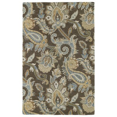 Casper Brown Odyusseus Brown/Tan Floral Area Rug Rug Size: 10 x 14