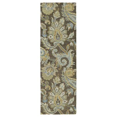 Casper Brown Odyusseus Brown/Tan Floral Area Rug Rug Size: Runner 26 x 8