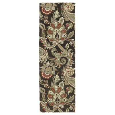 Casper Chocolate Odyusseus Brown/Tan Floral Area Rug Rug Size: Runner 26 x 8