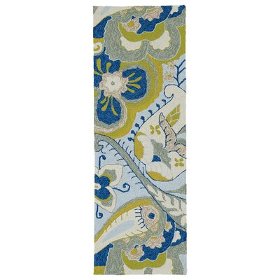 Manning Hand-Tufted Floral Indoor/Outdoor Area Rug Rug Size: Runner 2 x 6