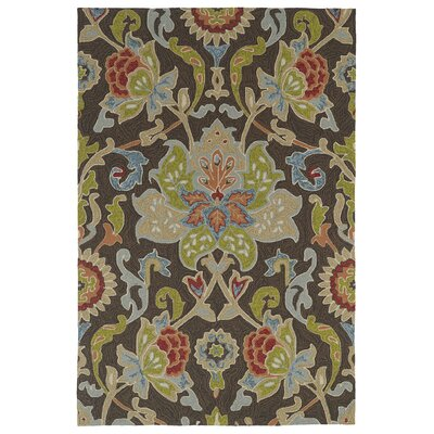 Manning Multi-colored Tufted Indoor/Outdoor Area Rug Rug Size: Round 59