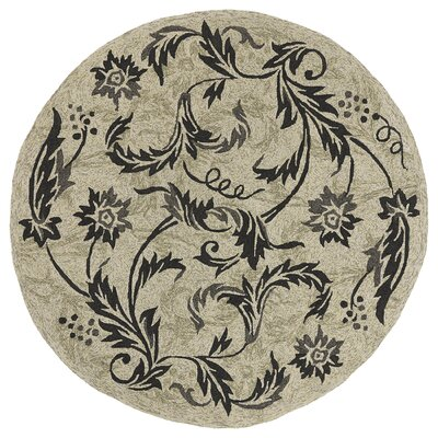 Manning Brown & Tan Floral Indoor/Outdoor Area Rug Rug Size: Round 79