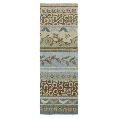 Manning Hand-Woven Brown/Tan Indoor/Outdoor Area Rug Rug Size: Runner 2 x 6