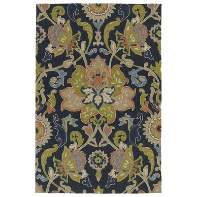 Manning Hand-Tufted Navy Indoor/Outdoor Area Rug Rug Size: 2 x 3
