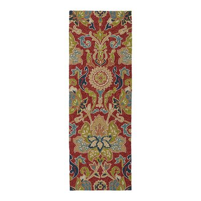 Manning Floral And Plants Red Indoor/Outdoor Area Rug Rug Size: Runner 2 x 6