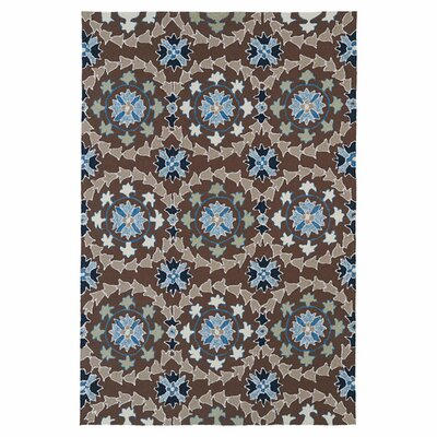 Manning Hand woven Blue/Brown Indoor/Outdoor Area Rug Rug Size: 2 x 3