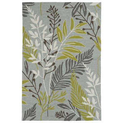 Manning Hand-Tufted Wasabi Green/Grey Indoor/Outdoor Area Rug Rug Size: Rectangle 5 x 76