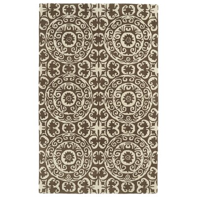 Corine Brown Area Rug Rug Size: 8 x 11