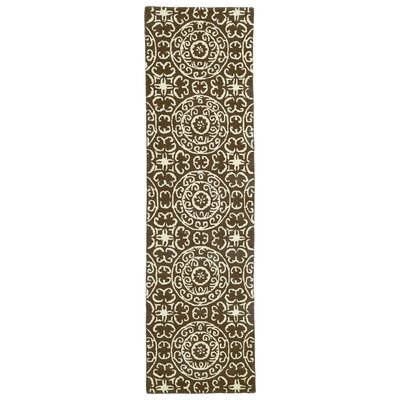 Corine Brown Area Rug Rug Size: Runner 23 x 8